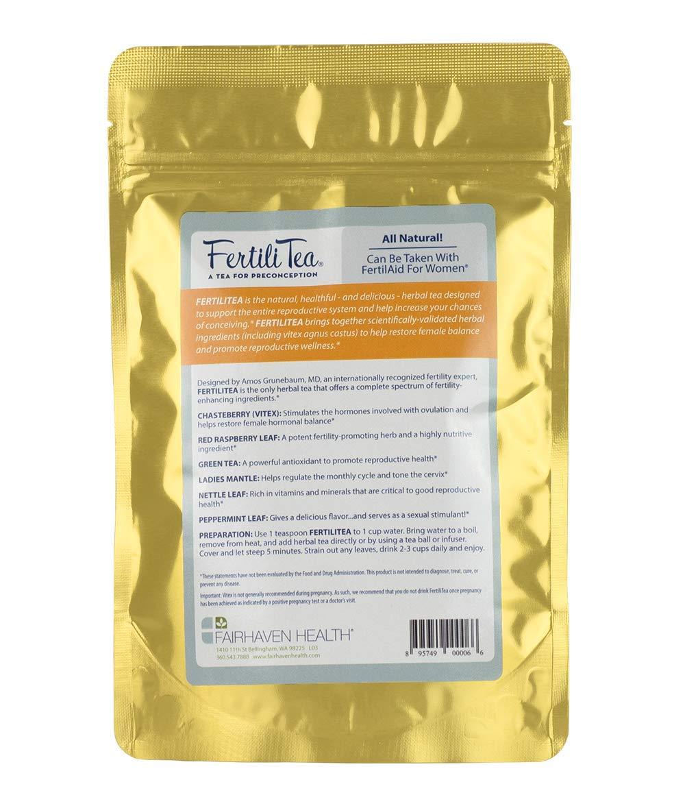 FertiliTea: Organic Fertility Tea, 60 Servings, Contains Vitex by Fairhaven Health (Image #2)