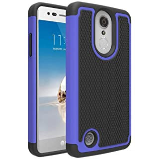 LG Aristo 2/LG Aristo 3/LG Tribute Empire/Tribute Dynasty/Phoenix 4/Rebel 4/Zone 4/Rebel 3 LTE/Risio 3/LG K8+ Plus/Phoenix 3/Fortune 2 Phone Case, OEAGO [Shockproof] Hybrid Dual Layer Case, Blue