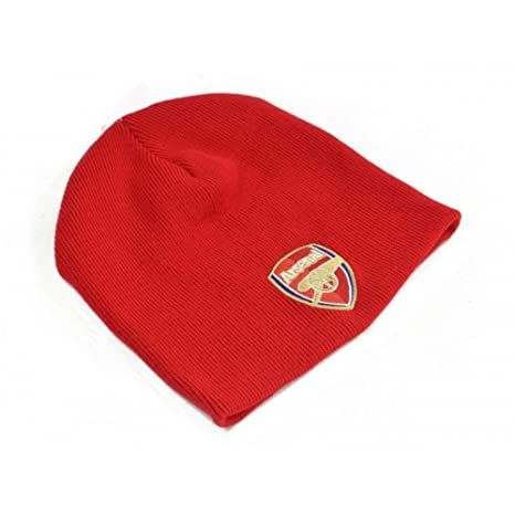 67642a634d0 Image Unavailable. Image not available for. Color  Arsenal FC Authentic EPL Knit  Hat Red