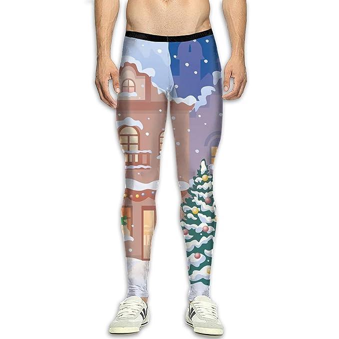 Amazon.com: FANRENYOU - Pantalones de compresión para hombre ...