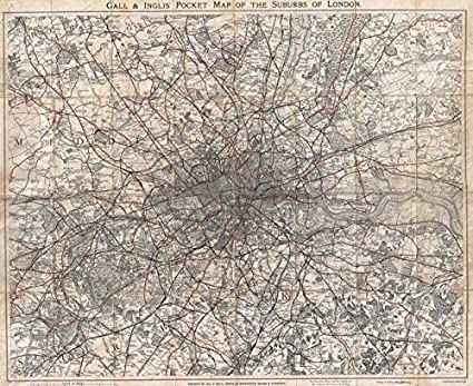 Map Of London 1900.Amazon Com Imagekind Wall Art Print Entitled Vintage Map Of London