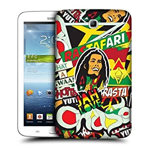 TopFshion Designs Rasta Sticker Happy Protective Snap-on Hard Back Case Cover for Samsung Galaxy Tab 3 7.0 P3200 T210 WiFi