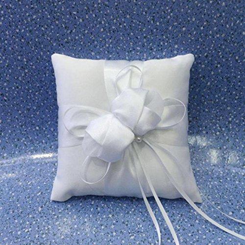 DZT1968 Ring Cushion Beautiful Flower Wedding Ring Pillow 15cmx15cm