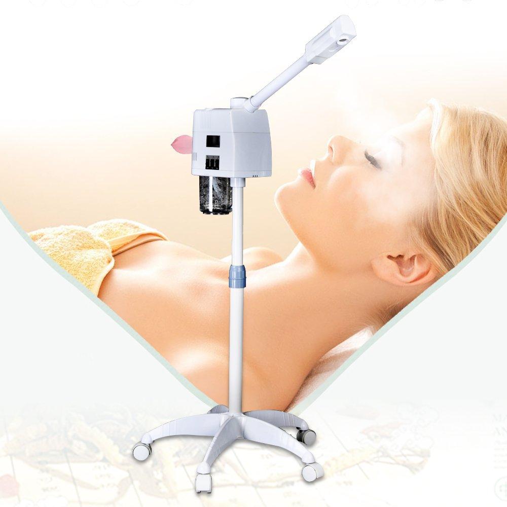 FUNTELL Warm Bedampfer, Vapozon Aroma Ozon Gesichtssauna Bedampfer Dampfgerät Beauty Hautpflege