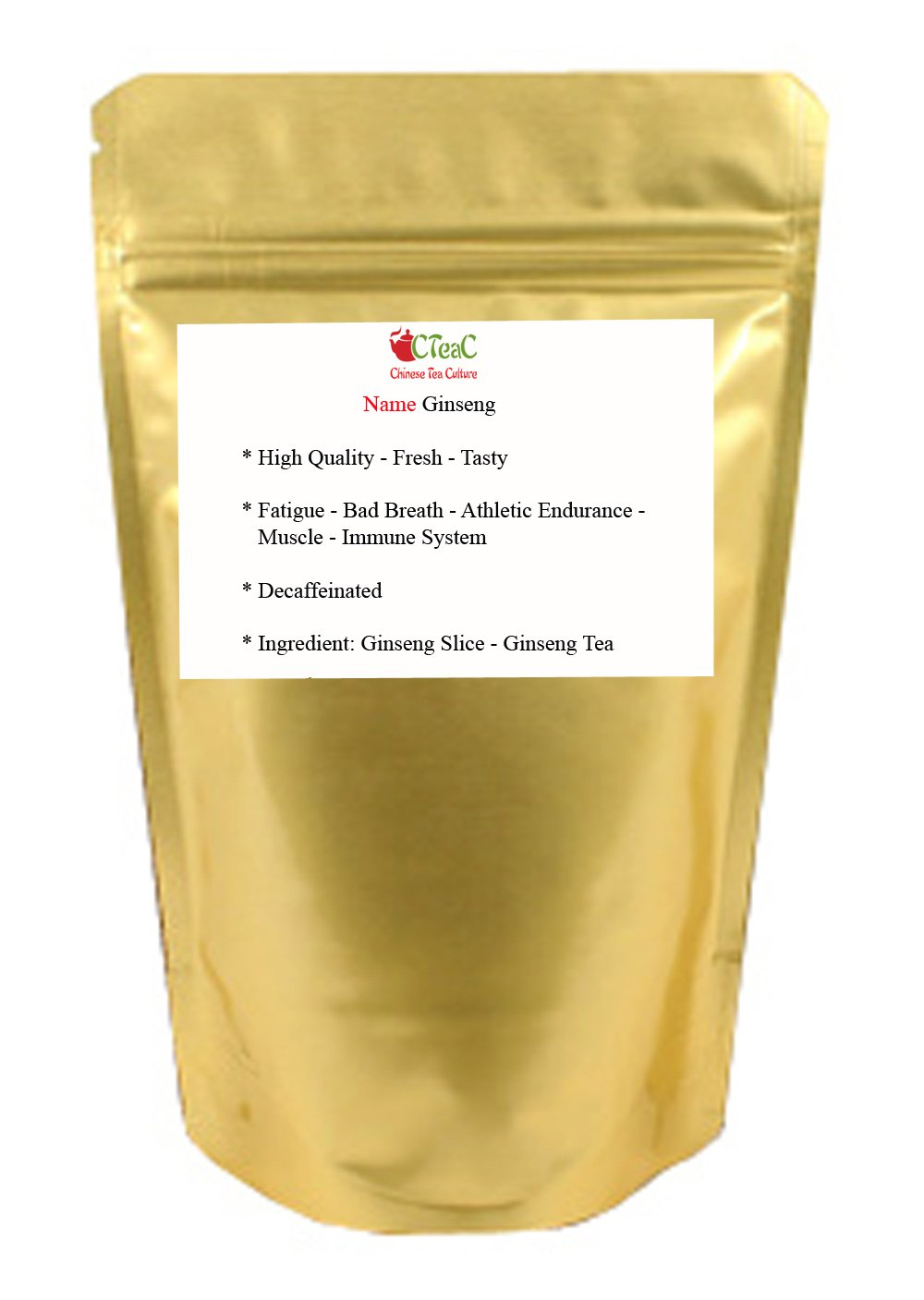 Ginseng – Wisconsin Ginseng – Ginseng Root – Ginseng Slice – Ginseng Tea – Herbal – Loose Leaf – 8oz