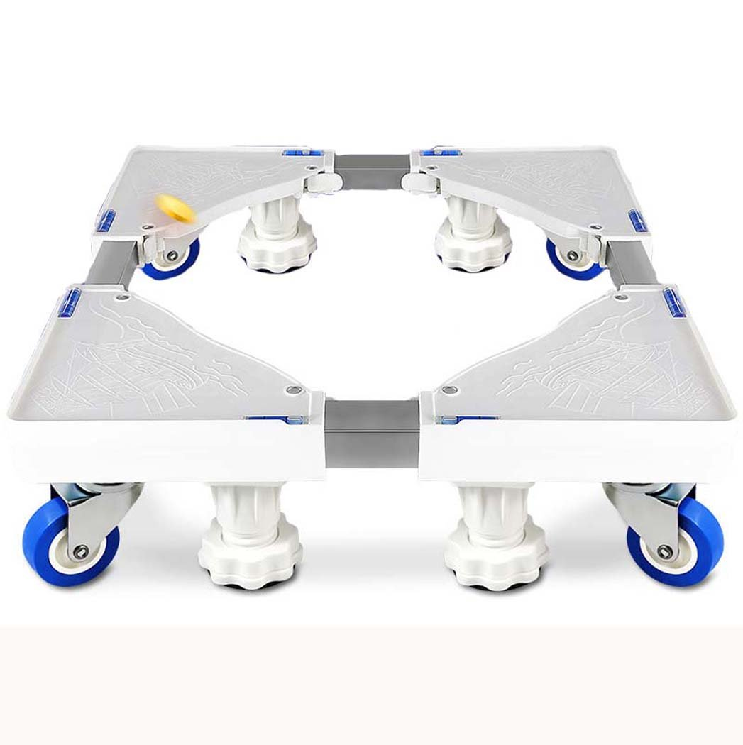 washing machine base, Universal Multi-functional Adjustable Base with Casters,Multi-function trolley for Washing Machine,Dryer and Refrigerator (Color : White)