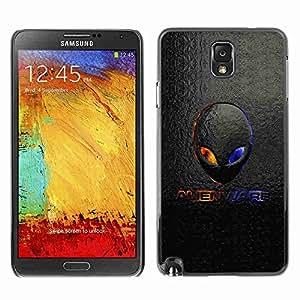 Planetar® ( Alien Logo ) Fundas Cover Cubre Hard Case Cover Samsung Galaxy Note 3 III / N9000 / N9005
