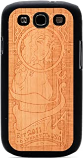 product image for CARVED Matte Black Wood Case for Samsung Galaxy S3 - Art Nouveau Engraved Cherry (S3-BC1K-E-ARTN)