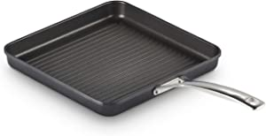 "Le Creuset Toughened PRO 11"" Square Grill Pan Nonstick Cookware, Grey"