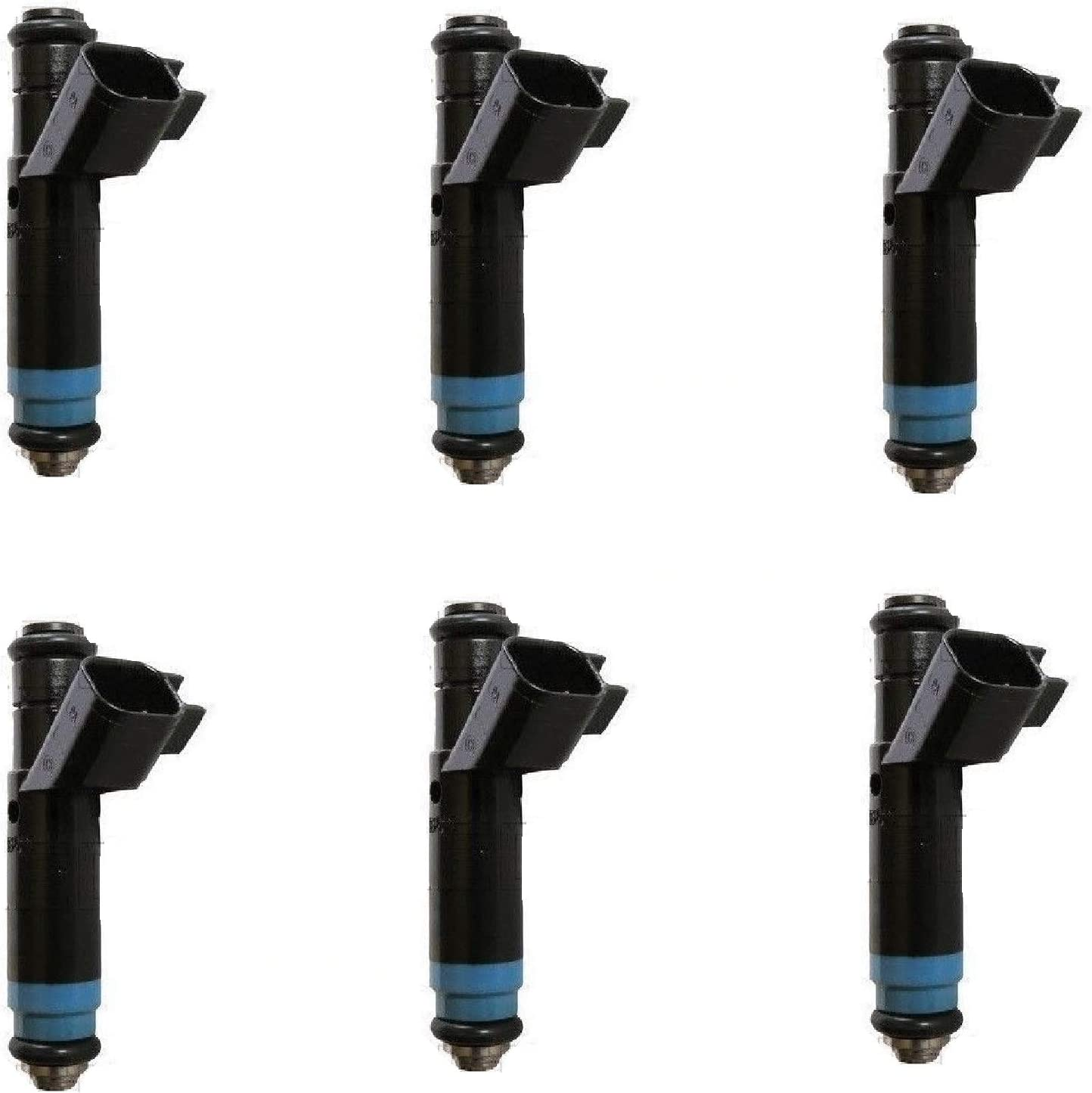 AAP Set of 6 Re-Manufactured Upgraded Siemens 4 Hole Fuel Injectors for 05-08 Ford F-150 4.2L #5L3E-A6C