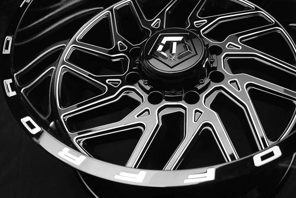 0 x 14. inches //8 x 165 mm, -76 mm Offset TIS 544BM BLACK Wheel with Gloss