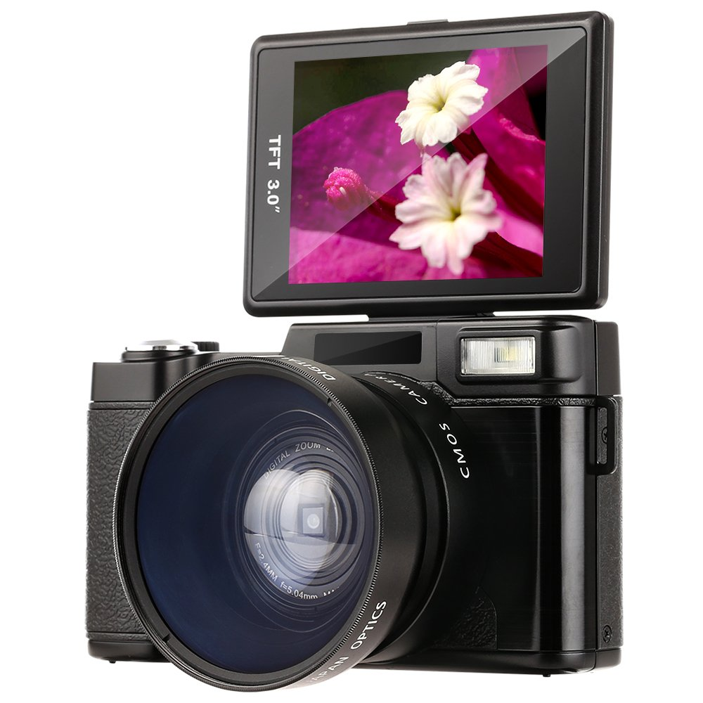 Camcorder ,Besteker HD 3.0-Inch LCD Mini Video Camcorders with Macro Lens and Flash Light (G36) by Besteker