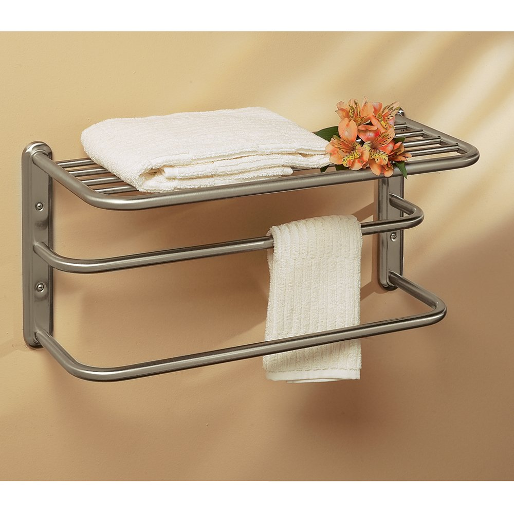 Gatco 1541SN 10-Inch by 20-Inch Towel Rack, Satin Nickel - Towel ...