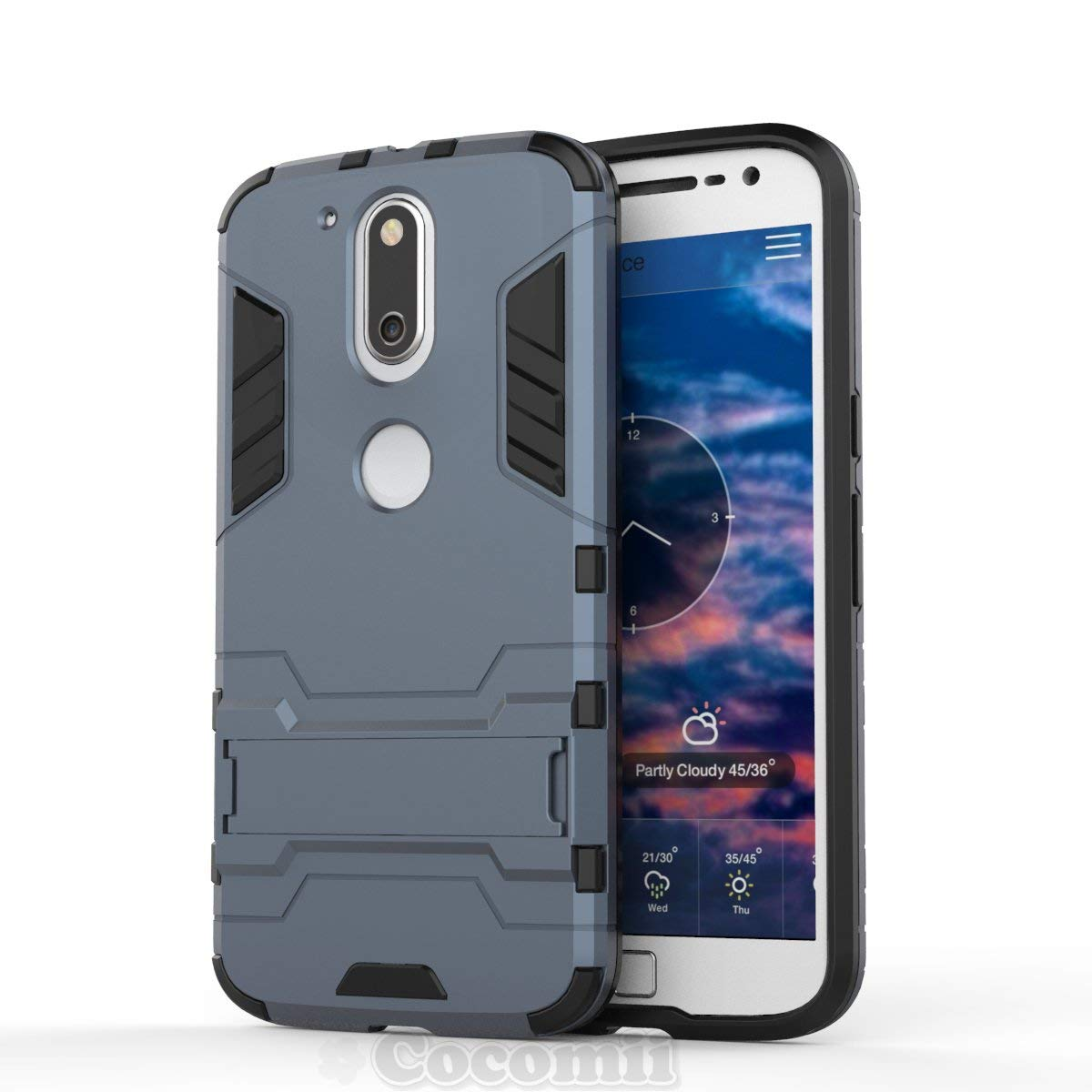 Cocomii Iron Man Armor Motorola Moto G4/G4 Plus Case NEW [Heavy Duty] Premium Tactical Grip Kickstand Shockproof Hard Bumper [Military Defender] Full ...