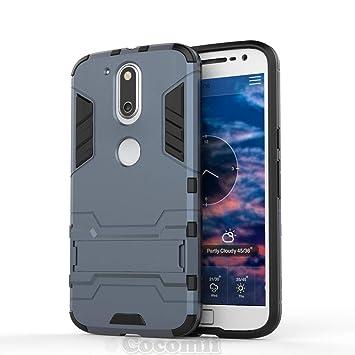 Cocomii Iron Man Armor Motorola Moto G4/G4 Plus Funda [Robusto] Superior Táctico Sujeción Soporte Antichoque Caja [Militar Defensor] Cuerpo Completo ...