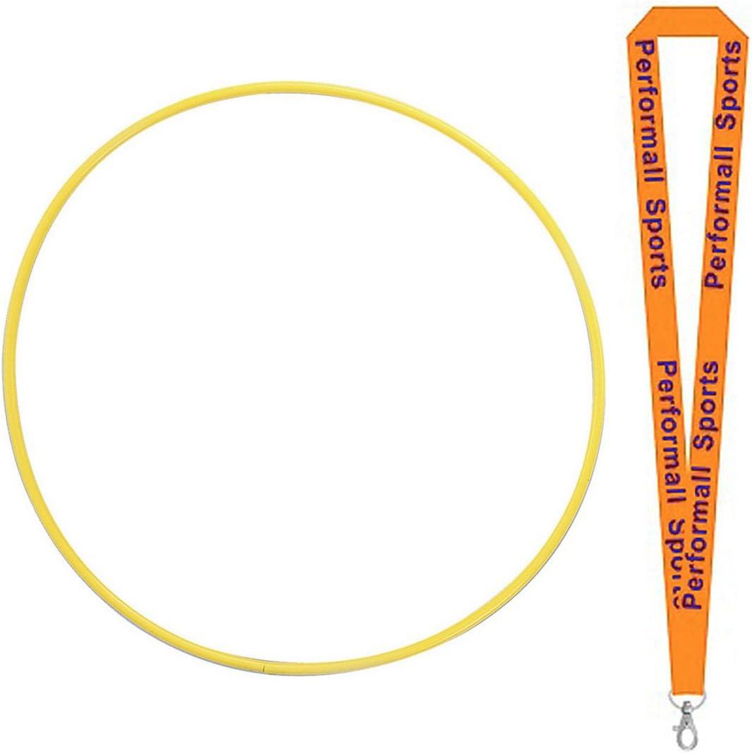 チャンピオンスポーツプラスチックHula Hoops Assortedアソート色とサイズ( 12セット) with 1 performall Lanyard  24-Inch