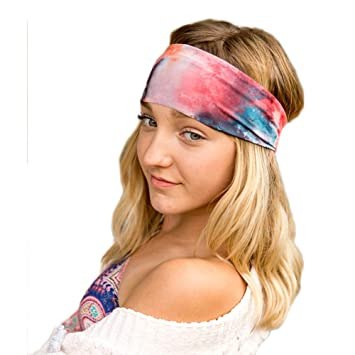 Violet Love Womens Yoga Headbands - Star Signs Fashion Print Pattern  Couture Headband ed57fa81989