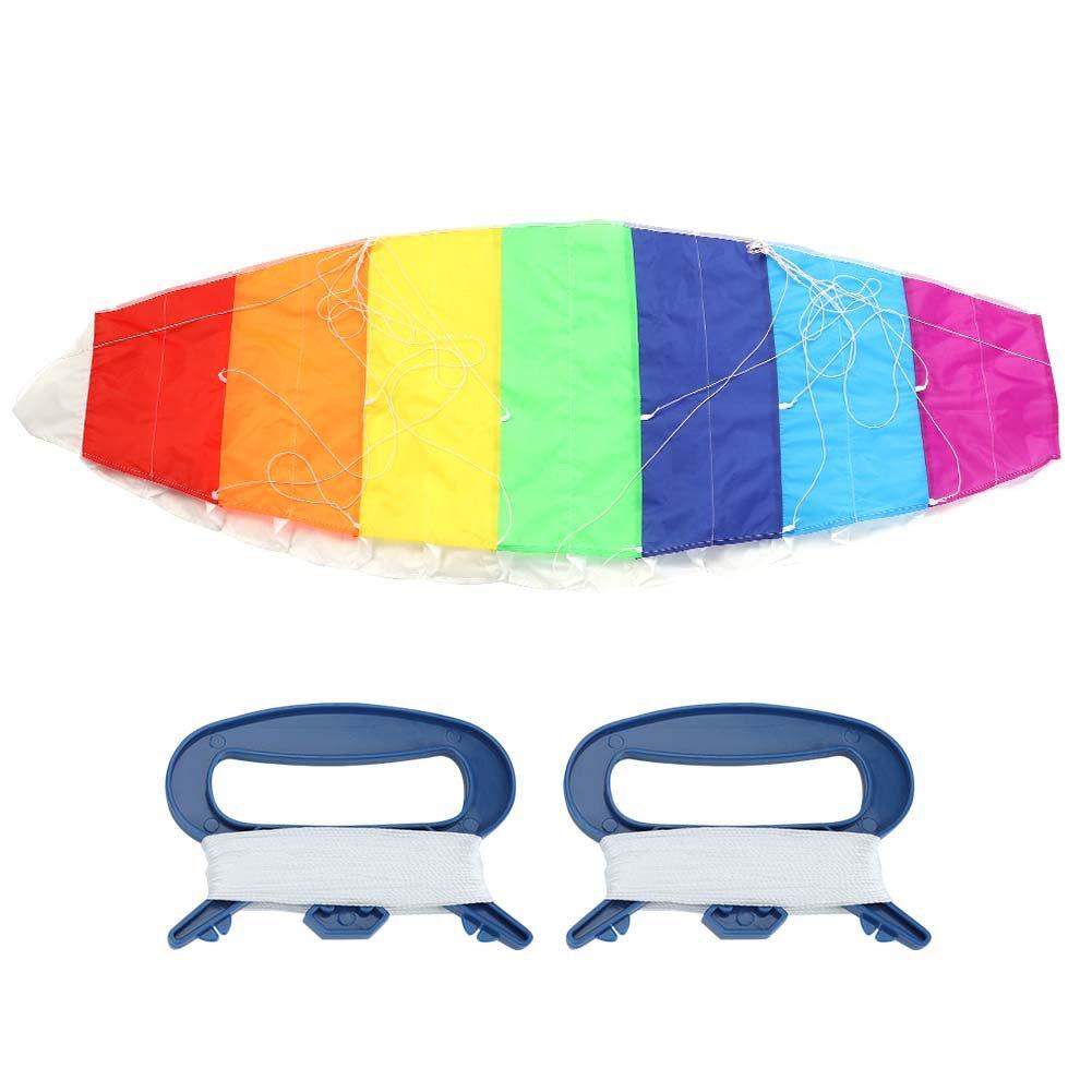 1.4m Fdit 1,4 m//2 m//2,7 m Rainbow Color Dual Line Stunt Power Sport Kite Volando Herramientas al Aire Libre Juguete Divertido