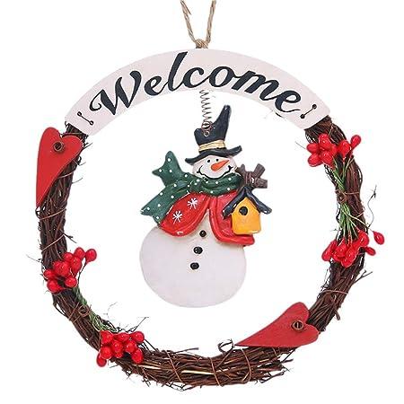 Joyibay Adorno de Navidad Santa Muñeco de Nieve Cartel ...