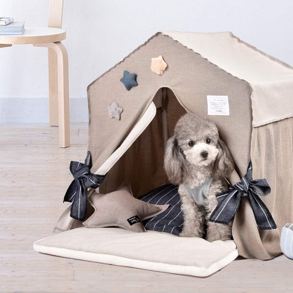 WJGRB ペットの巣中小犬の屋内の別荘犬の家四季普遍的な取り外し可能および洗えるペット用品 pet bed (Color : B) B