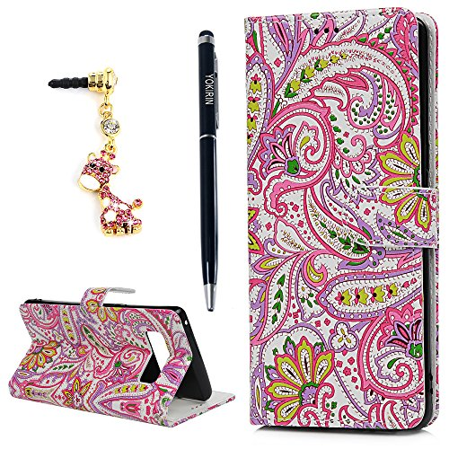 Price comparison product image Note 8 Wallet Case,  YOKIRIN Premium PU Leather Wallet Flip Protective Skin Case with Magnetic Closure Card / Cash Slots Shock-Absorption TPU Inner Cover for Samsung Galaxy Note 8,  Colorful Flower