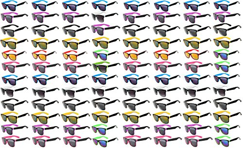96 Pieces Per Case Wholesale Lot Glasses. Assorted Colored Frame Fashion Sunglasses.Bulk Sunglasses - Wholesale Bulk Party Glasses, Party - Bulk Colorful In Sunglasses