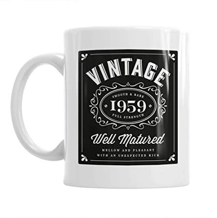 60th Birthday Gift Idea Vintage Classic Bourbon For Men Or Women Him Her 1959 Coffee Mug Keepsake Amazoncouk Kitchen Home