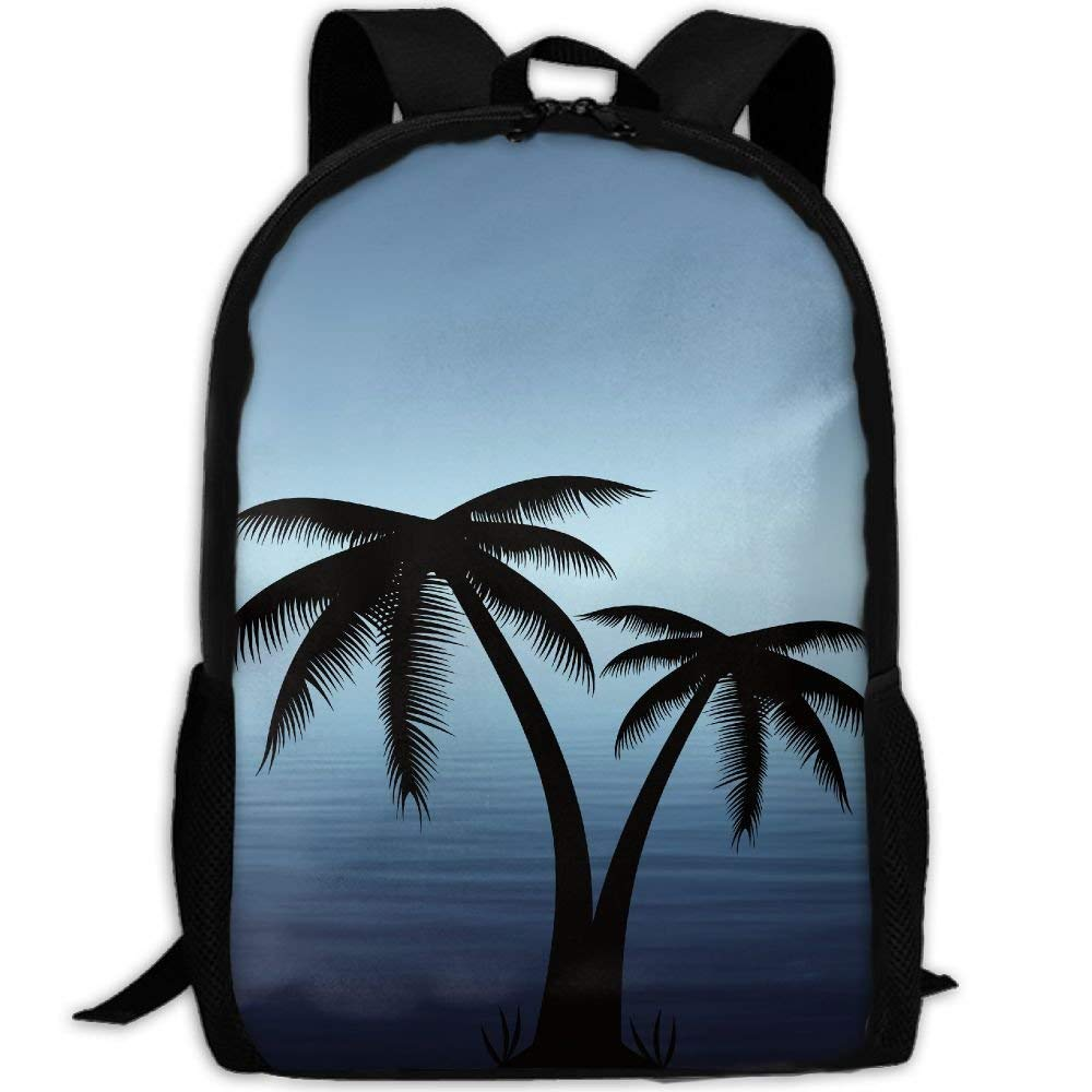 Backpack for Adults Palm Tree Beach Sunset Unique
