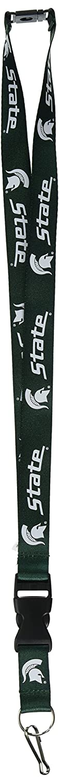 Green Michigan State Spartans Green Clip Lanyard Keychain Id Ticket