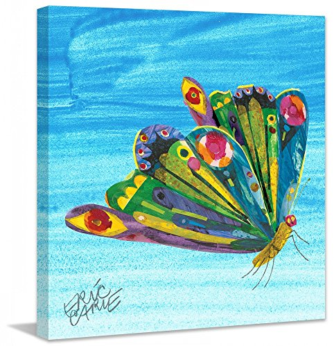 Eric Carle 'Rainbow Butterfly' Painting Print on Wrapped Canvas, 18
