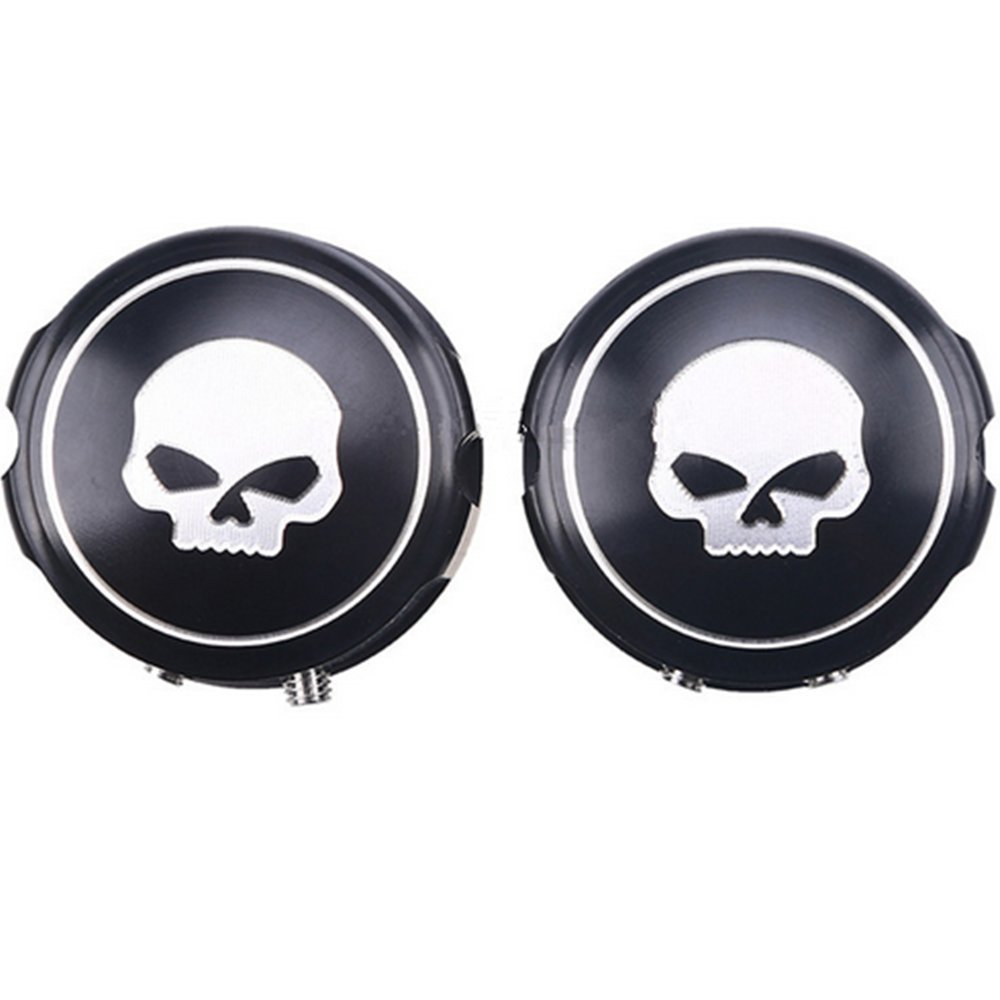 DLLL Motorcycle Skull Front Axle Cover Blot Caps For Harley Davidson Sportster XL 883 1200 X48 Softail 08-16 Electra Street Glide Black
