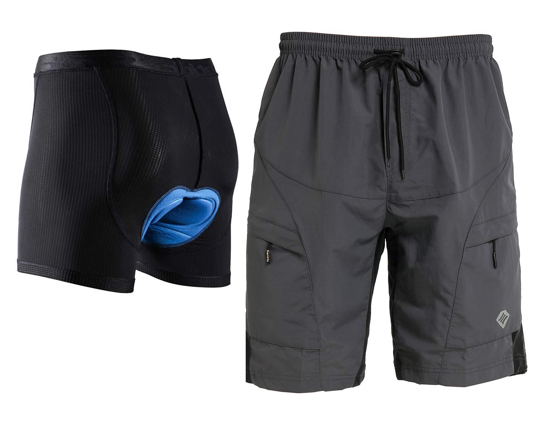 Santic Mens Loose-fit Mountain Bike Shorts Coolmax Lightweight Cycling MTB Shorts