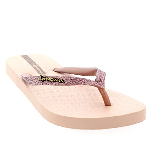 810f6b662 Ipanema Womens Sparkle Toe Post Beach Thongs Summer Sandals Flip Flops -  Blush - 8