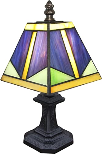 Carl Artbay Table Lamp Handmade Tiffany Style Glass Lampshade for Room Decoration