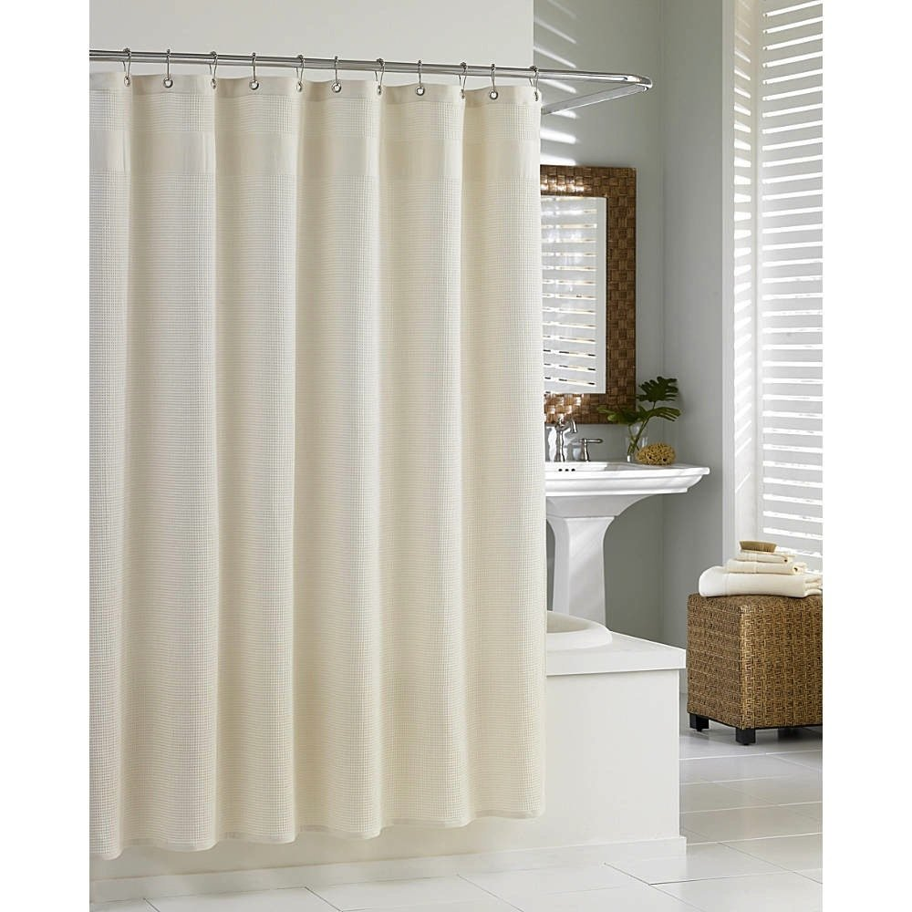 medium collection shower fabric curtains ivory of extra white shocking waffle size curtain hotel cotton weave long