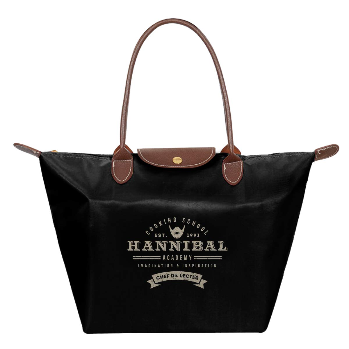 Hannibal Cooking School Chef Dr Lecter Waterproof Leather Folded Messenger Nylon Bag Travel Tote Hopping Folding School Handbags