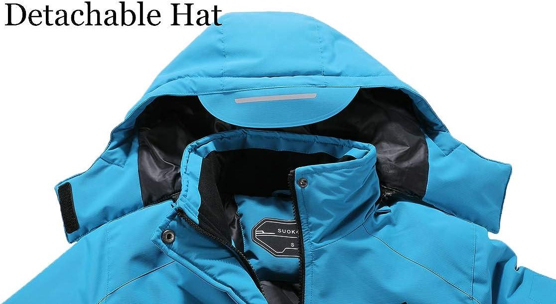 Womens Waterproof Ski Jacket Warm Winter Snow Coat Hooded Raincoat