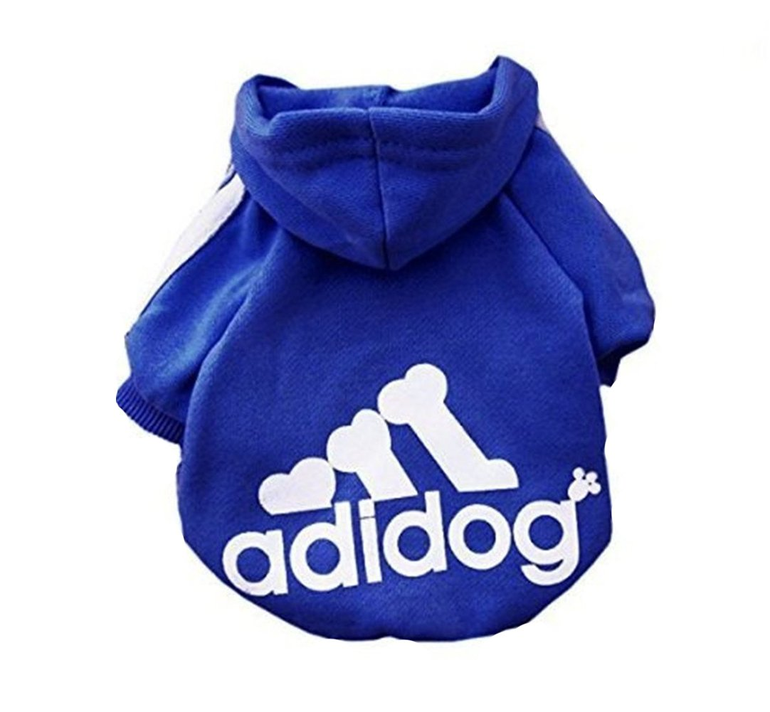 Fleece Dog Hoodies,Rdc Pet Apparel, Adidog Basic Hoodie Sweater, Cotton Jacket Sweat Shirt Coat Small Dog Medium Dog Cat(S,Navy Blue)