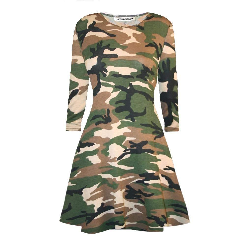 Janisramone Girls Boys New Kids Unisex Army Camouflage Hooded Onesie All in One Zip Up Fleece Jumpsuit Playsuit