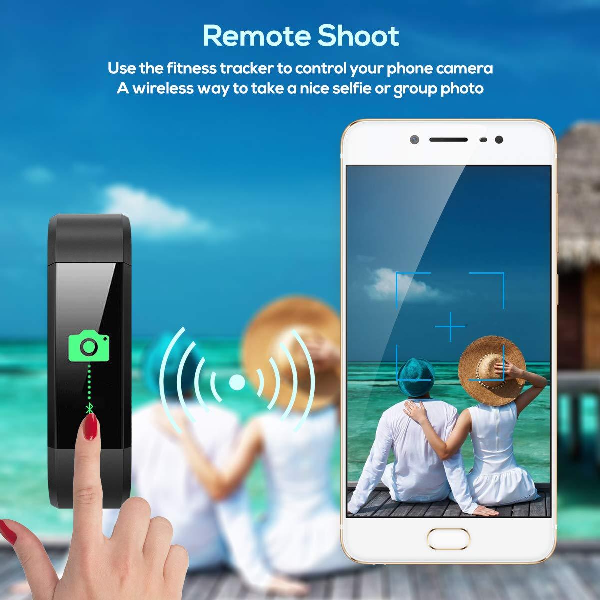 CHEREEKI Orologio Fitness Tracker Fitness Braccialetto Smartwatch Cardiofrequenzimetro da Polso Donna Uomo Bambini Smart Watch Contapassi Calorie Impermeabile IP68 per iOS Android