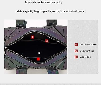 9f829b56184f Amazon.com: CCDYLQ Women's Geometric Luminous Handbags for Women ...