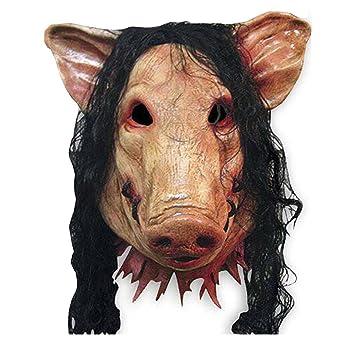 UDreamTime Halloween-Schwein-Kopf-Schablonen-Kostüm-Party Latex ...