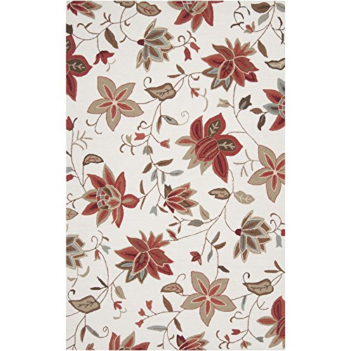 - Surya Brentwood BNT-7667 Transitional Hand Hooked 100% Polyester White Sand 2' x 2'9