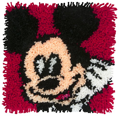(Dimensions Disney Mickey Mouse Latch Hook Craft Kit for Kids, 12'' x 12'')