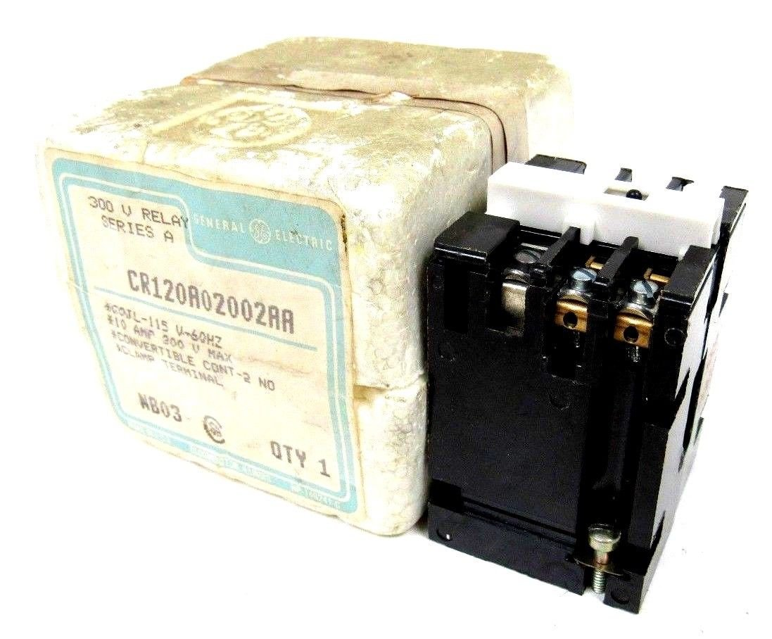 NEW GENERAL ELECTRIC CR120A02002AA RELAY