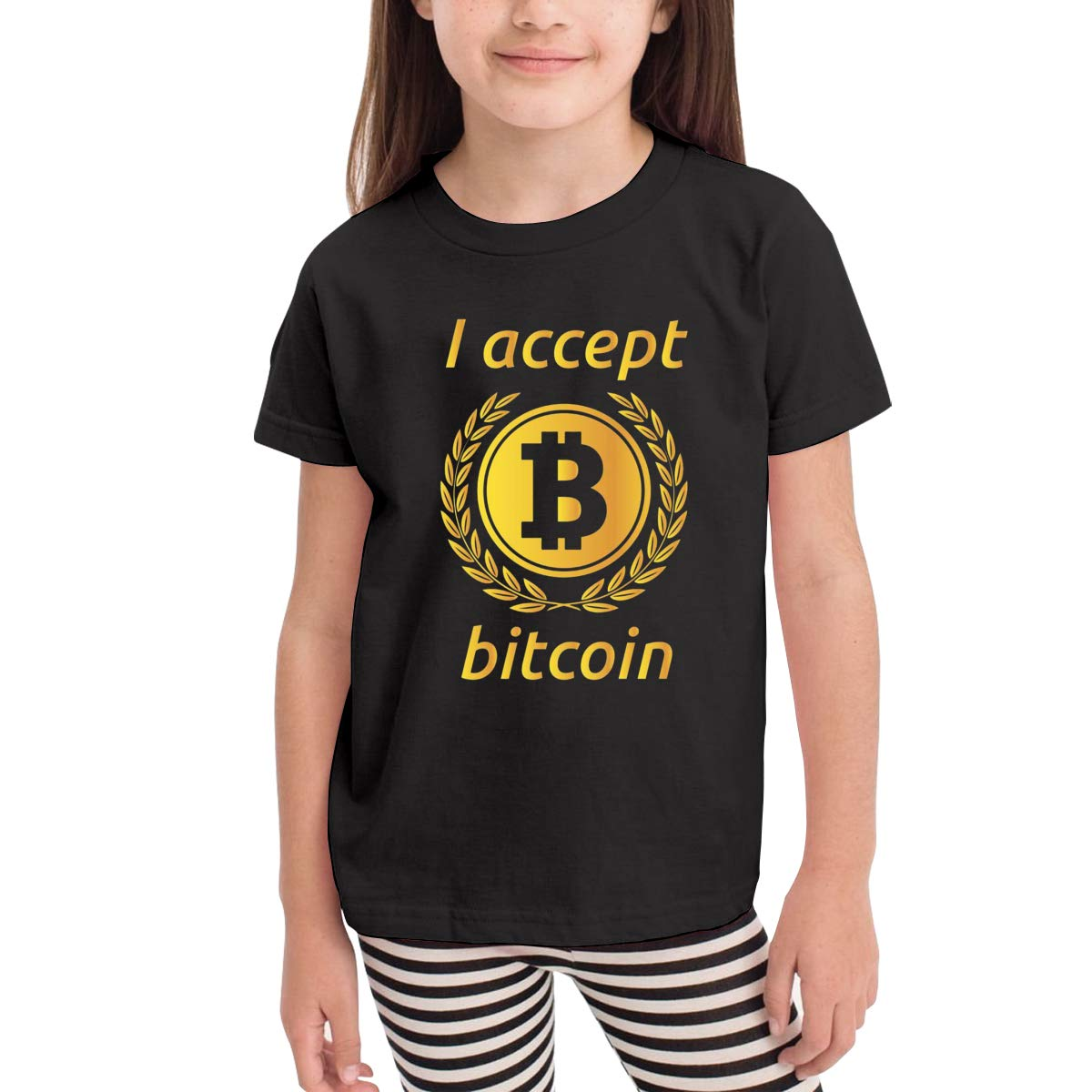 Onlybabycare I Accept Bitcoin1 100/% Cotton Toddler Baby Boys Girls Kids Short Sleeve T Shirt Top Tee Clothes 2-6 T