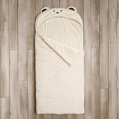 aef82e3ea927 Amazon.com  DE Kids Beige Plush Bear Themed Sleeping Bag