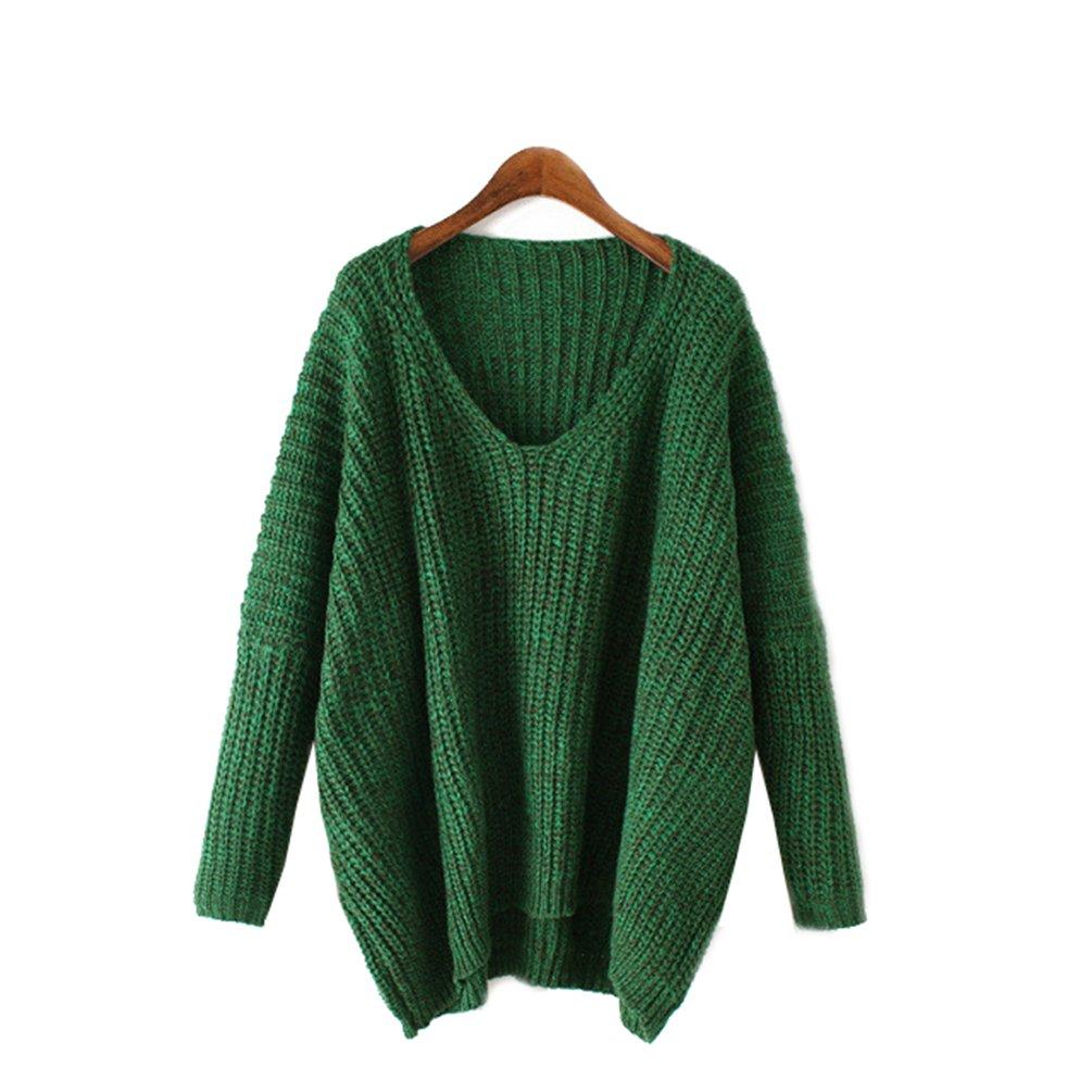 YouPue Donna Maniche Lunghe Pullover Maglia Maglione Girocollo Casuale Maglioni Oversize Sweatshirt Tops Maglietta