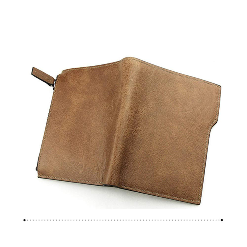 Nicaro Men Vertical Zip Pocket Credit Card Cash Wallet