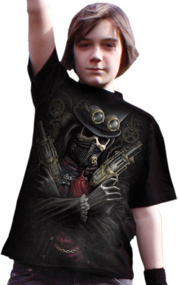 Spiral Boys - Steam Punk Bandit - Kids T-Shirt Black 5
